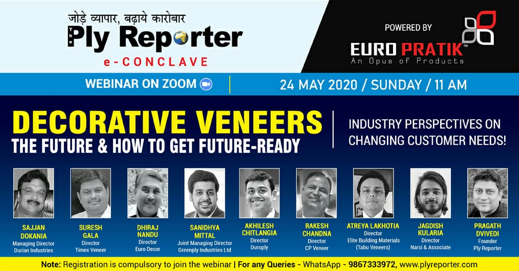 Ply Reporter e-Conclave on Decorative Veneers - The Future and How to Get Future-Ready - Powered By Euro Pratik - An Opus of Products