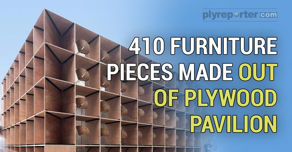 410 Furniture Pieces Made out of Plywood Pavilion