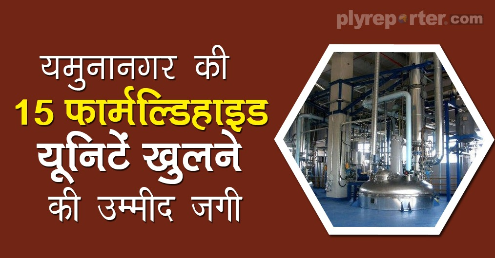 Hope to open 15 formaldehyde units of Yamunanagar