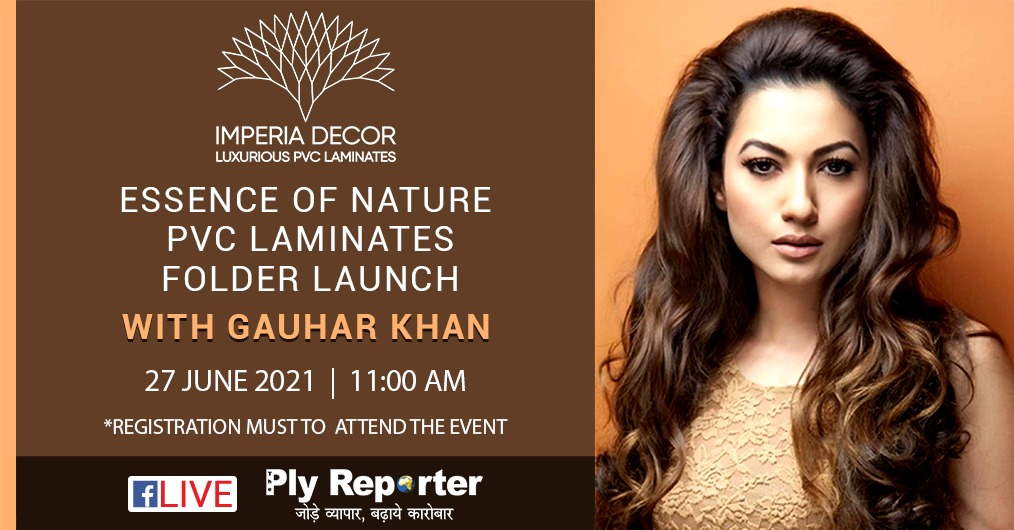 Inviting you to the Special Launch of IMPERIA DECOR PVC Laminate Catalogue on PLY REPORTER