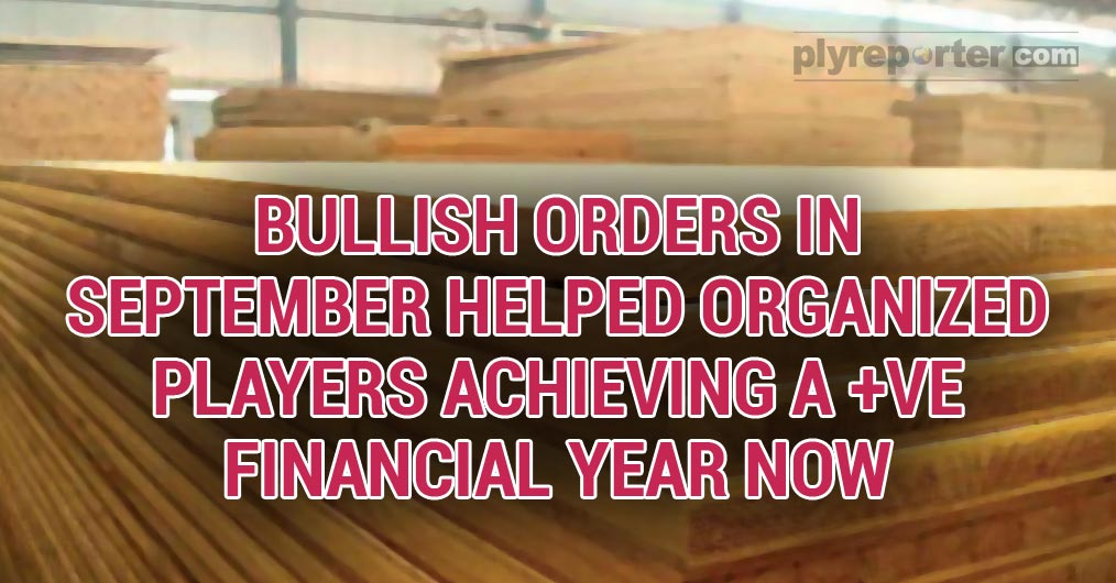 September month sales have been a morale booster for all in wood panel sector,