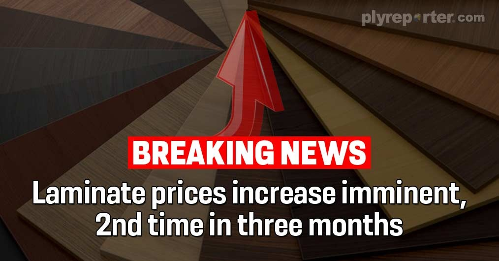 Breaking News: Laminate prices increase imminent, 2nd time in three months