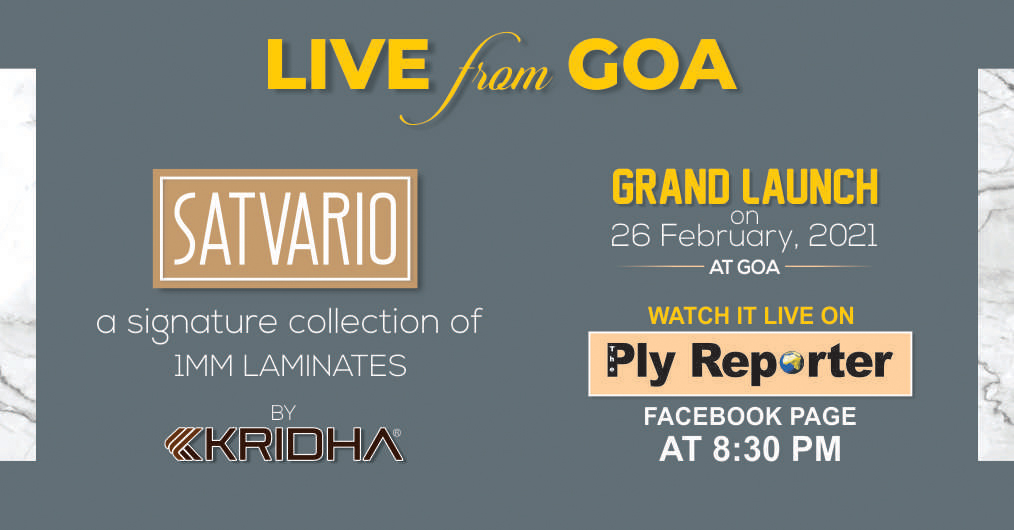 First time ever, watch the Live Launch of SATVARIO 1MM Folder by Kridha Laminates