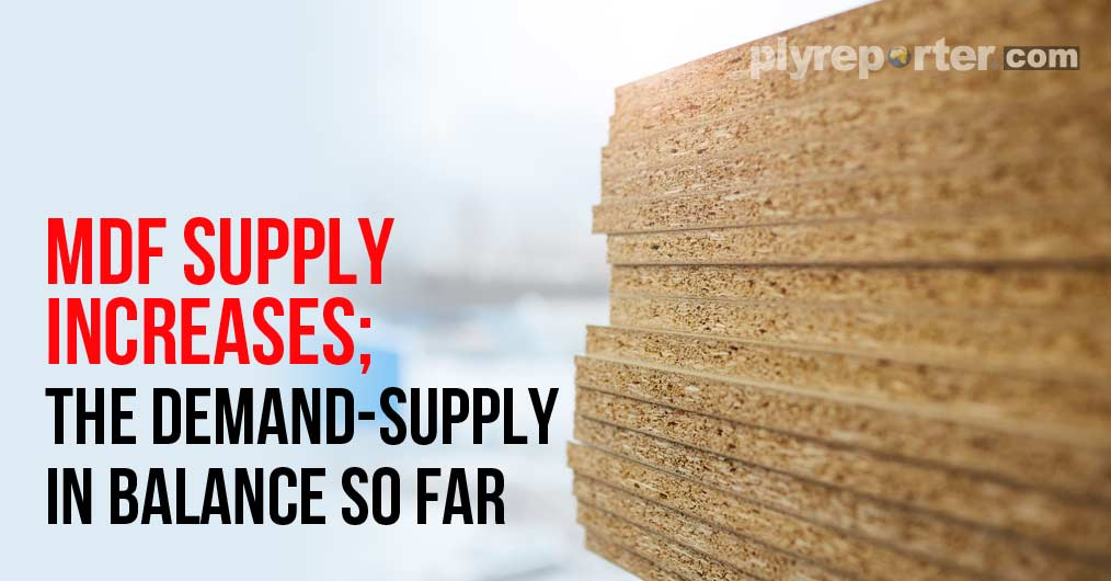MDF demand and supply