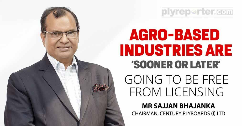 Mr Sajjan Bhajanka, Chairman, Century Plyboards (I) Ltd