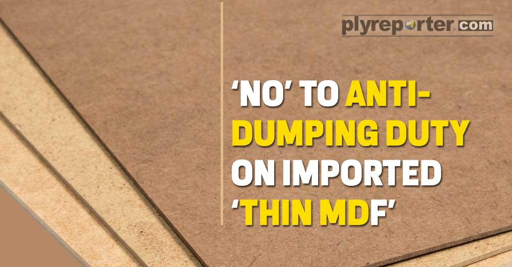 Anti-Dumping Duty on Imported 'THIN MDF