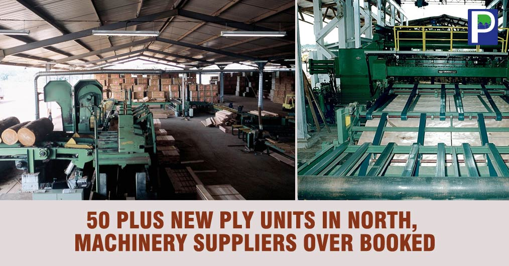 Plywood machinery manufacturers and suppliers are reportedly very much occupied due to sudden jump in orders for Hot Press, Driers, Boilers, Peeling machines, Sanding Machines, Glue spreaders etc.