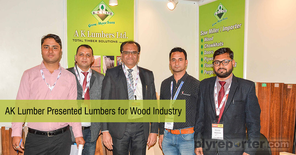 AK Lumber presented a number of domestic as well as imported lumbers for wood industry. They received very good response.