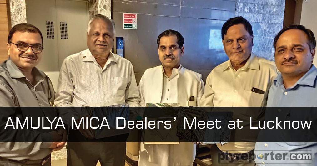 Amulya Mica, Amulya WPC & Amul Boards Pvt. Ltd. organized dealers' meet at Dayal Paradise, Gomti Nagar in Lucknow on 27th Sept/2019. The function was inaugurated by lighting the lamp followed by Ganesh Vandana & National Anthem.