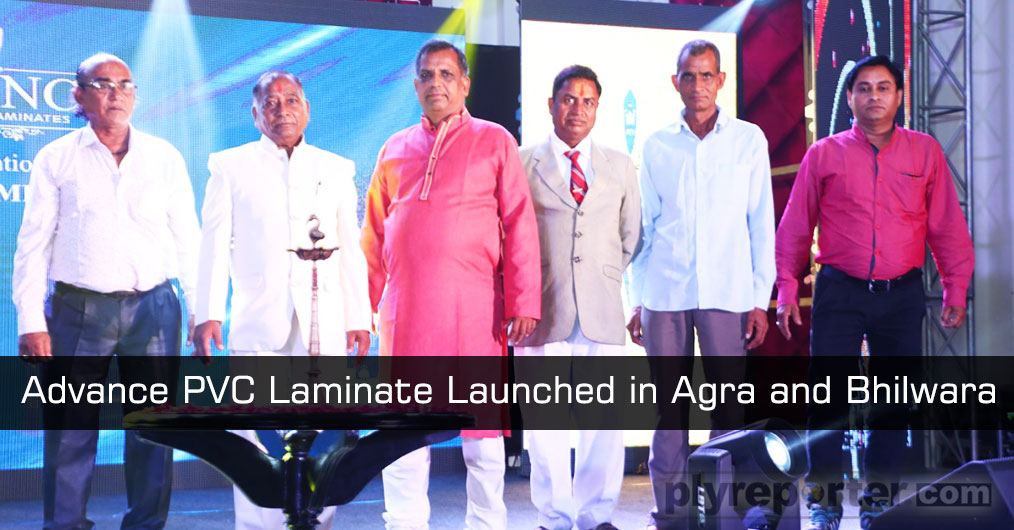 Advance Decorative Laminates Pvt. Ltd launched their ADVANCE PVC LAMINATE'S folder in Agra, UP and Bhilwara, Rajasthan in the month of June 2019