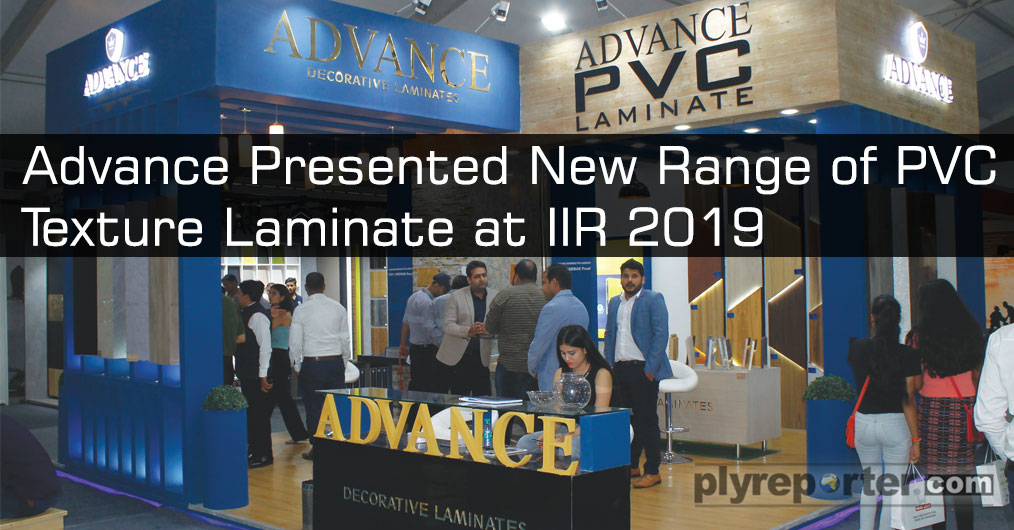 Advance Decorative laminates showcased paper based laminate in 1 mm and 0.8mm along with 1mm PVC laminate with high gloss effect on wooden and other textures in different colours.