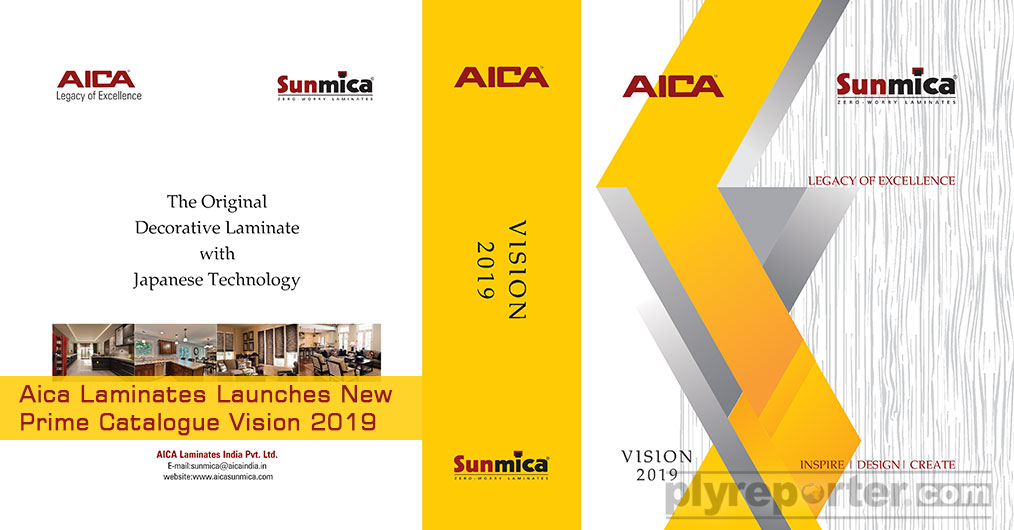 Aica Laminates India Pvt Ltd launched its New Prime Catalogue Vision 2019 at Acetech Exhibition, held in Mumbai & Delhi recently.