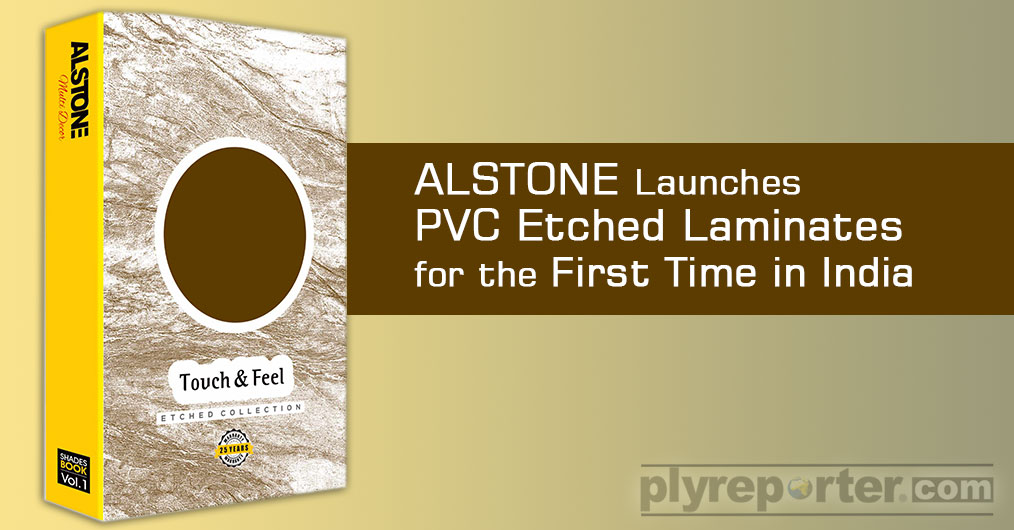Alstone Launches PVC Etched Laminates for the First Time in India