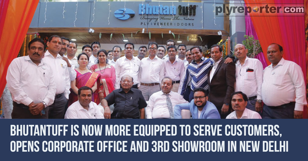 Bhutan tuff opened their new corporate office along with veneer & doors display center at Sharaswati Vihar in New Delhi. The newly opened state-of-the-art corporate office cum showroom is a five storied building facilitating all necessary communicati