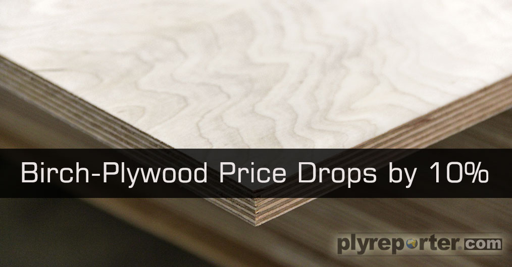 Reports from Russia plywood industry suggested that 'Birch Plywood prices' have reduced by 10 to 13% because the demand has slumped down in international market.