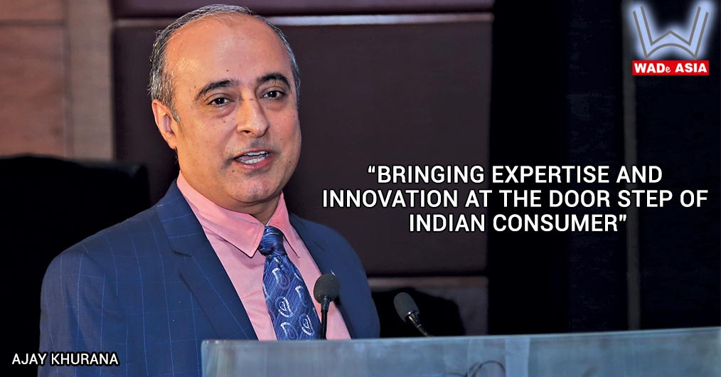 """Ajay Khurana, Chairman South Asia, REHAU Polymers Pvt. Ltd. spoke on """"Bringing Expertise and Innovation at the door step of Indian consumer""""."""