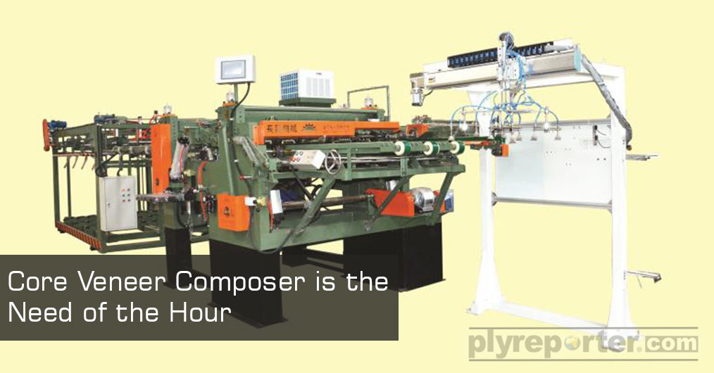 The veneer composing machines