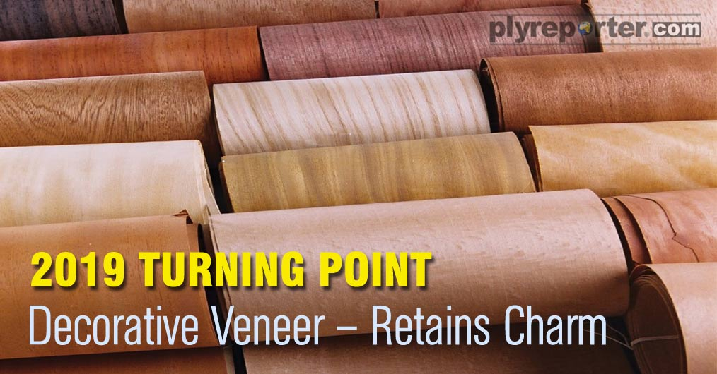 Decorative veneer segment maintained its charm in 2019 with increased offerings of innovative and exotic ranges. Although veneer display centers through showrooms and retailers' dominance increased but their margins were reported to shrink, and the d