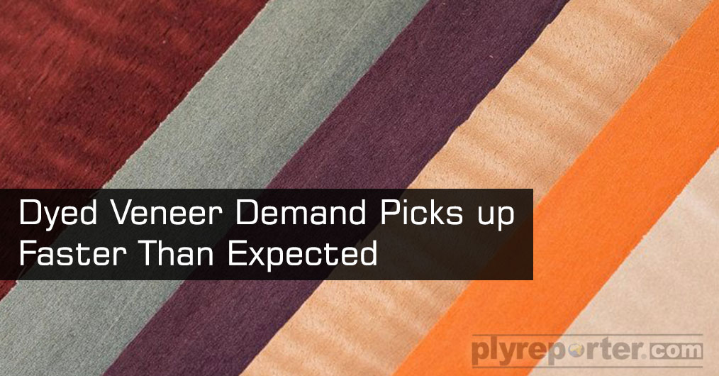 Decorative Veneer market is witnessing growing demand of Dyed Veneer range in India market. Retailers form different cities confirm the rise of dyed natural veneers lately.