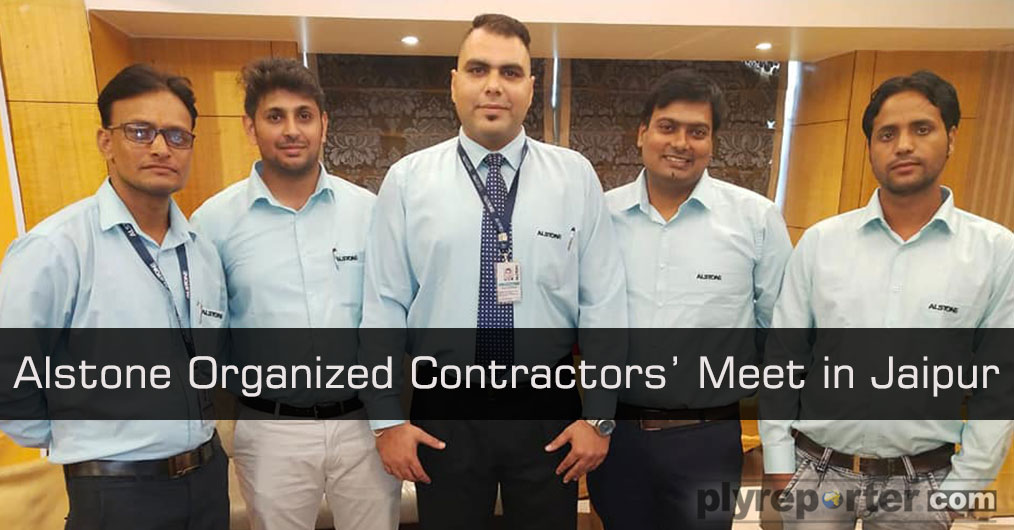 Alstone organized a contractors' meet in Jaipur on August 1, 2019 with one of their Multi Decor 1 mm PVC laminate distributor in the city.