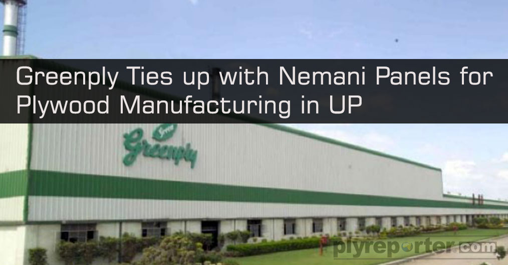 India's pioneer brand in plywood products, Greenply has signed a joint venture with an existing plywood producing company located in Bareilly.