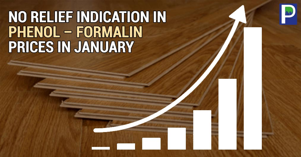 Wood panel and decorative laminates industry has to bear the cost of high phenol and formaldehyde prices in a month because sources confirm that there is no relief in prices in January as well.
