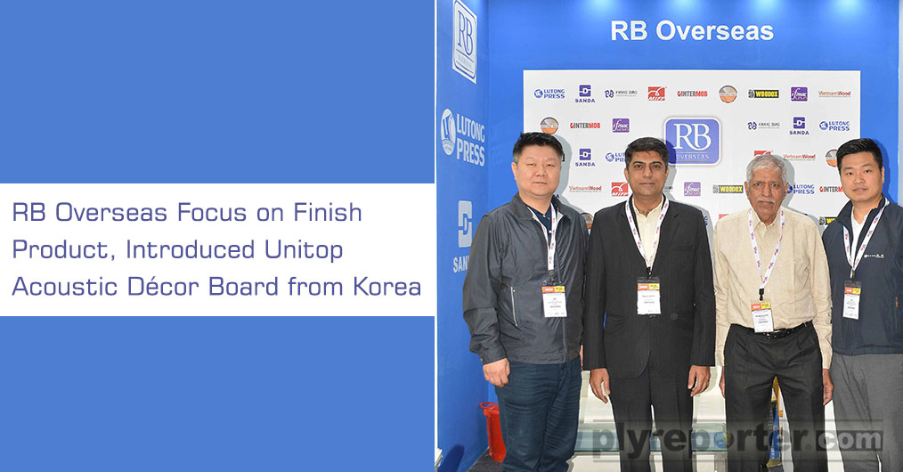RB Overseas has brought finish product – UNITOP Acoustic décor board. Besides, the machines/ technologies they introduced Acoustic DÉCOR board from Korea; KWANGSUNG