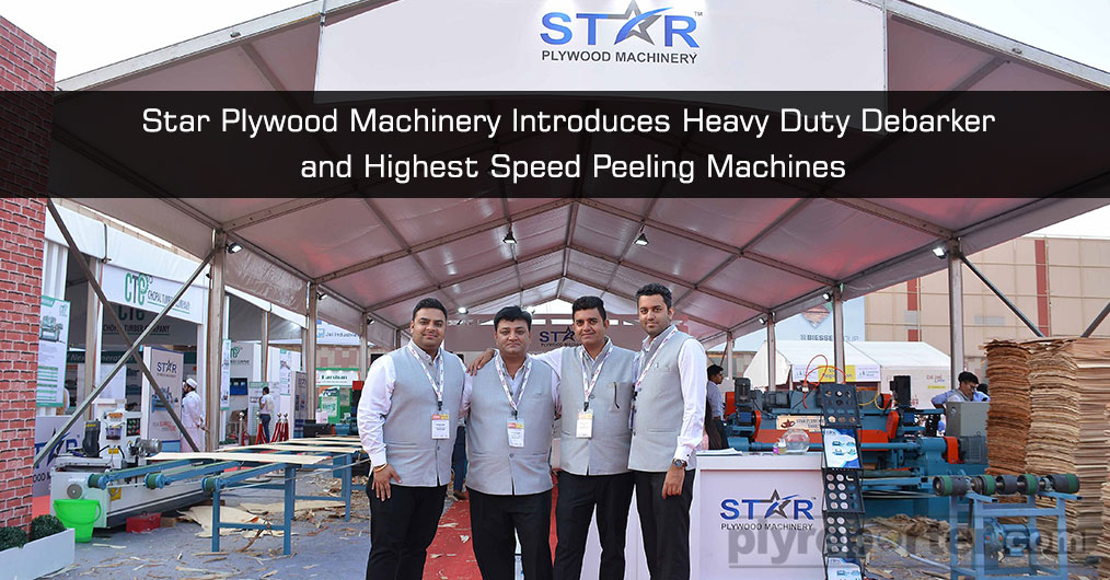 Star Plywood Machinery presented live demo and display of latest plywood machinery at the exhibition. This time they introduced a Super Heavy duty wood debarker machine