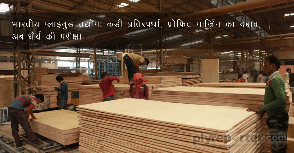 प्लाइवुड उद्योग, गला काट प्रतियोगिता के दौर में प्रवेश कर चुका है। भारत में वुड पैनल प्रोसेसिंग की लगभग 2800 फैक्टरियां व्यावहारिक रूप से चलती हैं जिन्हें प्लाइवुड उत्पादन यूनिट के रूप में गिना जा सकता है।