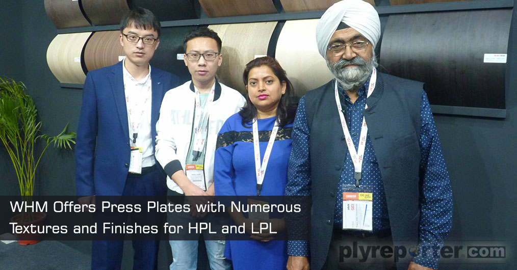 Wuxi Huamei Plates Processing Co. Ltd, China presented their press plates with numerous textures and finishes for HPL and LPL etc.