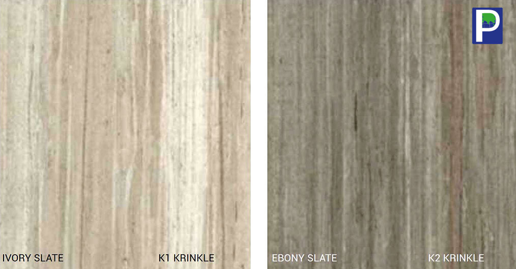 Krinkle finish of Aica's latest Kaiya Range is indeed an exotic wonder. The fusion of Krinkle Finish with exclusive patterns like ivory and ebony slate along with dark