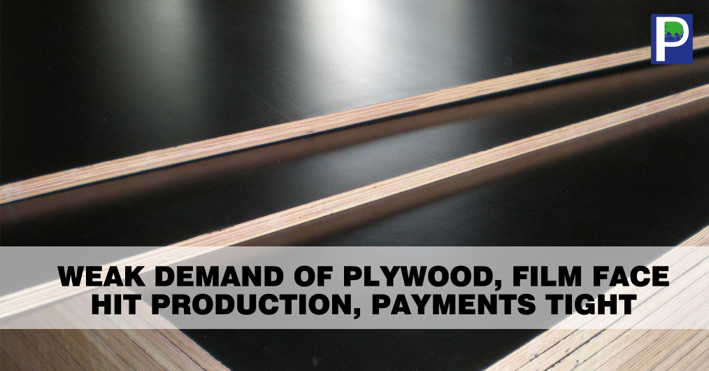 The market movement in plywood and film face category is again witnessing a harsh slow lifting across the country. The material lifting and payment situation is extremely dull owing to that Plyboard producers have reduced their production hours.