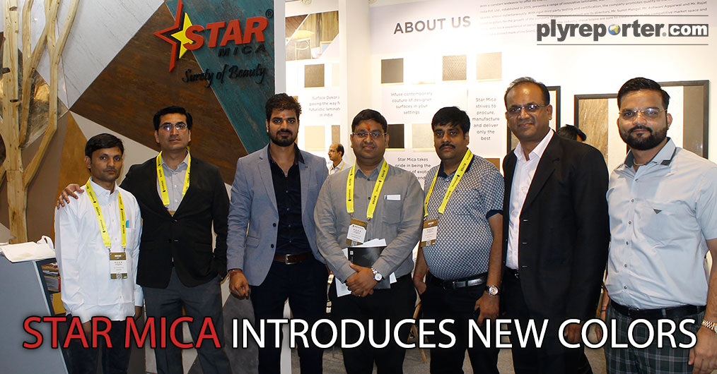 """STAR LAMINATES presented Star Mica 1mm, .8mm and Door Skin range with latest colours and textures and showcased their new folder recently launched in Chandigarh. """"STAR MICA folder is full of latest texture and its designs are attractive."""