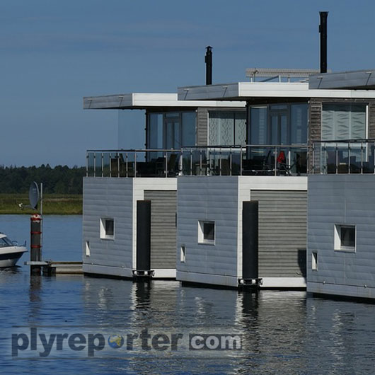 Fibre Cement Boards Being Used In Houseboats Making